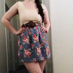 Delia's Lace Denim Floral Dress